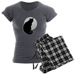 Basic Black Cat Women's Charcoal Pajamas