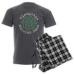 Visualize Whirled Peas 2 Men's Charcoal Pajamas