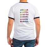 Rainbow Fingerspelled ABC Ringer T