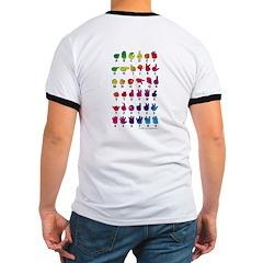 Rainbow Fingerspelled ABC T