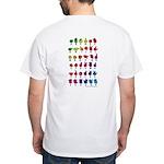 Rainbow Fingerspelled ABC White T-Shirt