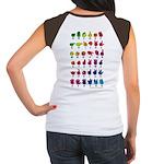 Rainbow Fingerspelled ABC Women's Cap Sleeve T-Shi