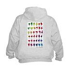 Rainbow Fingerspelled ABC Kids Hoodie