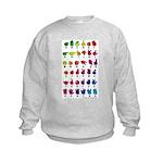 Rainbow Fingerspelled ABC Kids Sweatshirt