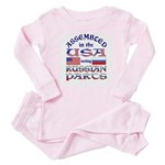 USA / Russian Parts Baby Pajamas
