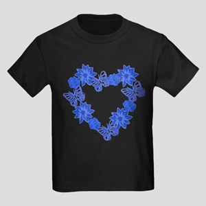 Heart Wreath Kids Dark T-Shirt