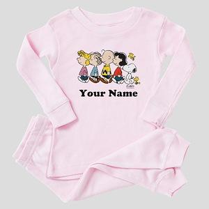Peanuts Walking No BG Personalized Baby Pajamas