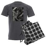 Cheshire Cat Men's Charcoal Pajamas