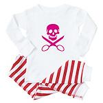 Fuchsia Jolly Cropper Baby Pajamas
