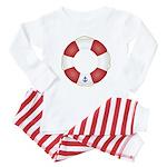Red and White Life Saver Baby Pajamas