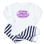 breastmilk is a superpower Baby Pajamas