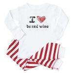 I Love Boxed Wine Baby Pajamas