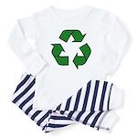Recycle Symbol Baby Pajamas