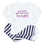 Bald Girl Baby Pajamas