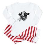 Happy Holstein Friesian Dairy Cow Baby Pajamas