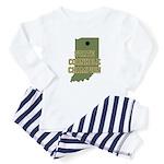 Indiana State Cornhole Champi Infant Bodysuit