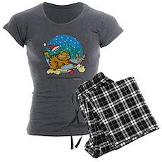 Odie Reindeer Women's Charcoal Pajamas