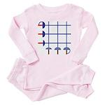 Fencing Sword Grid Baby Pajamas