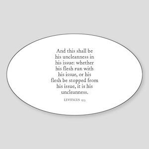 LEVITICUS 15:3 Oval Sticker