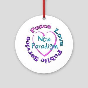 Peace Love Service Ornament (Round)