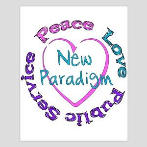 Peace Love Service Small Poster