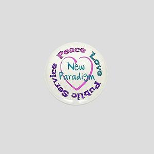 Peace Love Service Mini Button
