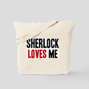 Sherlock loves me Tote Bag