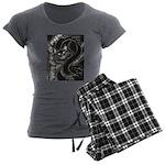 Cheshire Cat Women's Charcoal Pajamas