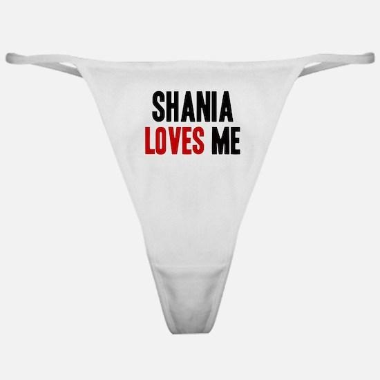 Shania loves me Classic Thong