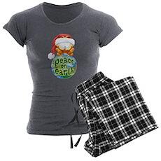 Peace on Earth Garfield Women's Charcoal Pajamas