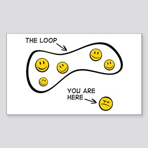 The Loop: Rectangle Sticker