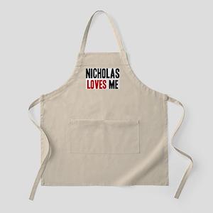 Nicholas loves me BBQ Apron