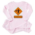 Flagman Ahead Sign - Baby Pajamas