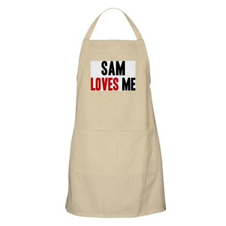 Sam loves me BBQ Apron