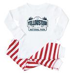Yellowstone NP Blue Baby Pajamas