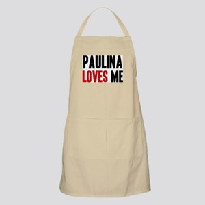 Paulina loves me BBQ Apron