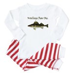 Walleye Fear Me Baby Pajamas