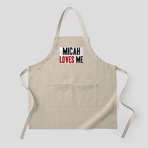 Micah loves me BBQ Apron