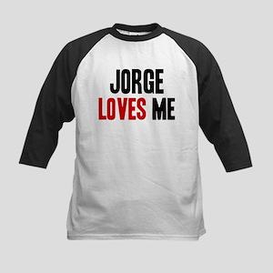 Jorge loves me Kids Baseball Jersey