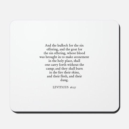LEVITICUS  16:27 Mousepad