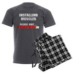 Installing Muscles Men's Charcoal Pajamas
