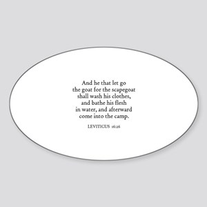 LEVITICUS 16:26 Oval Sticker