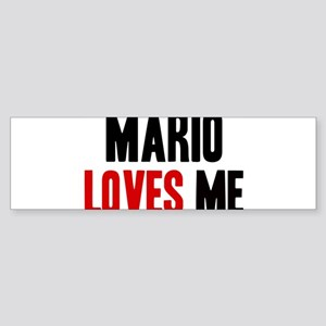 Mario loves me Bumper Sticker