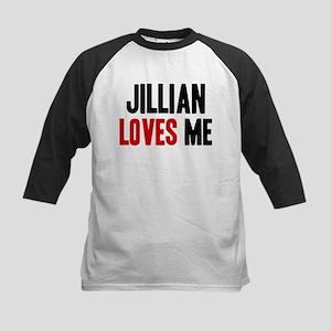 Jillian loves me Kids Baseball Jersey
