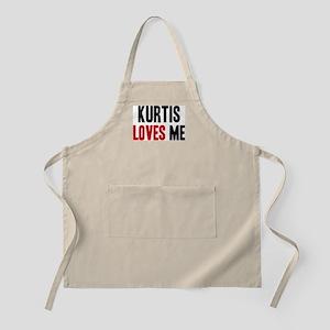 Kurtis loves me BBQ Apron