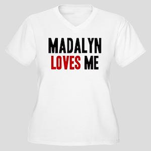 Madalyn loves me Women's Plus Size V-Neck T-Shirt