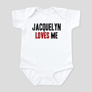 Jacquelyn loves me Infant Bodysuit