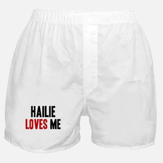 Hailie loves me Boxer Shorts