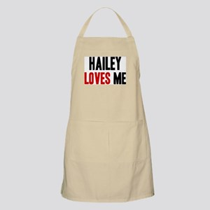 Hailey loves me BBQ Apron