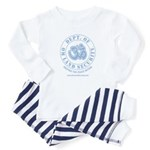 Om Land Security Baby Pajamas (Lt Blue/Lt Blue)